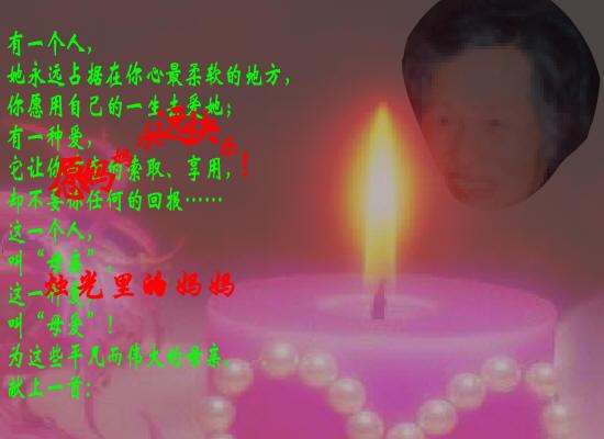 综合性学习 献给母亲的歌 烛光里的妈妈 flash歌曲欣赏